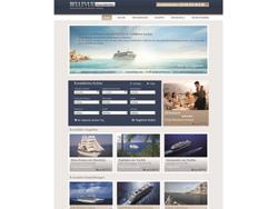 Screenshot der Startseite von Bellevue-Kreuzfahrten