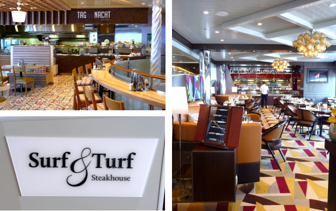 Restaurants Surf&Turf und Tag und Nacht