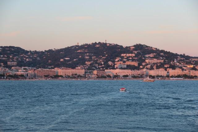 Abendstimmung mit Blick auf Cannes