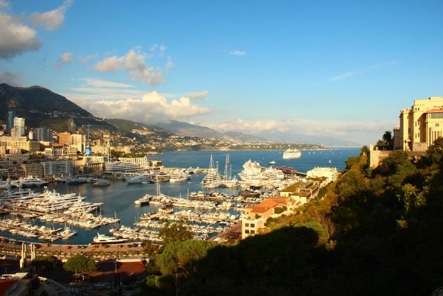 Monaco - Blick vom Palast auf den Hafen