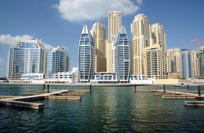 Dubai vom Wasser aus