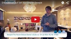e-hoi stellt vor: Kabinen auf der Norwegian Escape