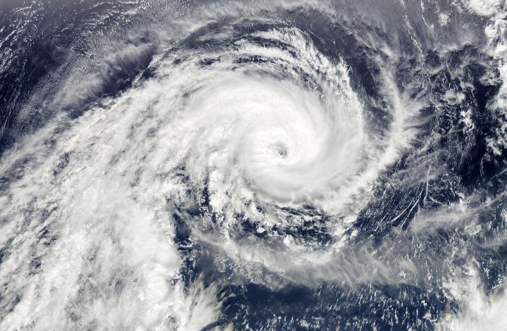 Zyklonwolke eines Hurrikans