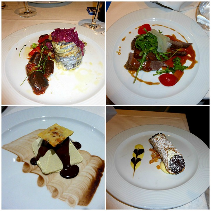 Dinner an Bord im Restaurant Fiorentino