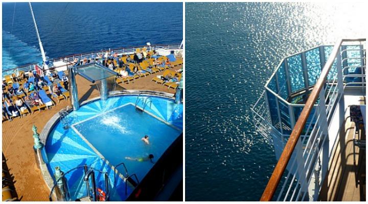 Pool und freihängender Whirlpool