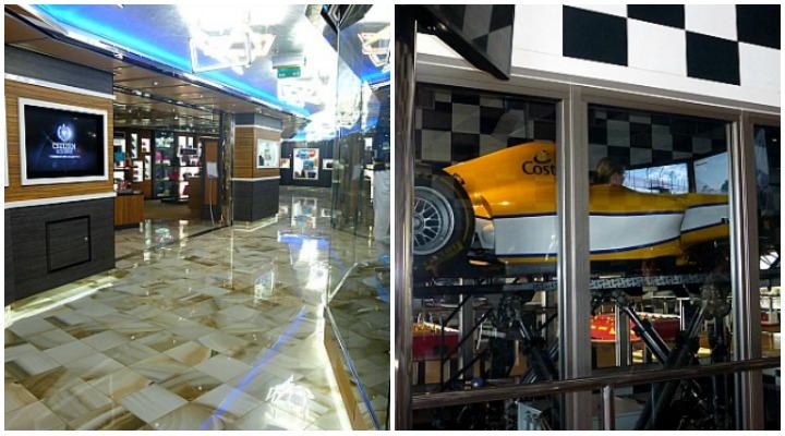 Shoppinggalerie und Simulator