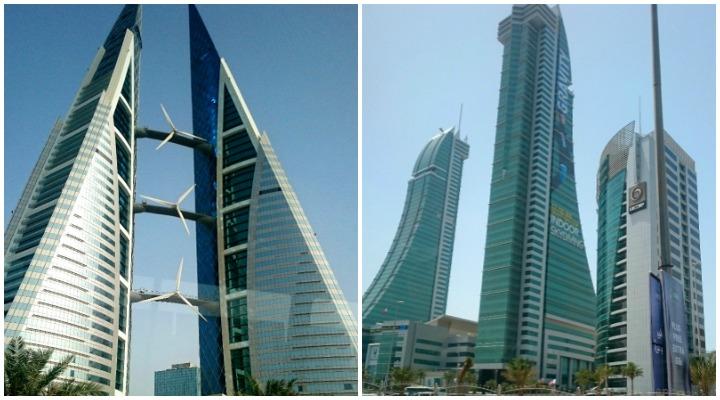 Bahrain World Trade Center und Financial Harbour Towers