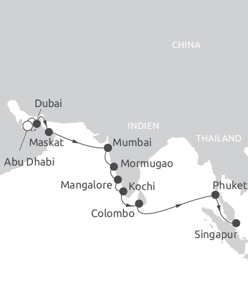 Route Emirate Indien