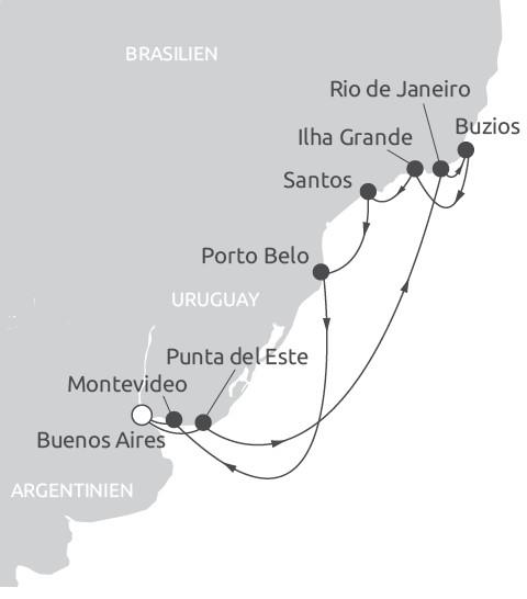 Route Südamerika