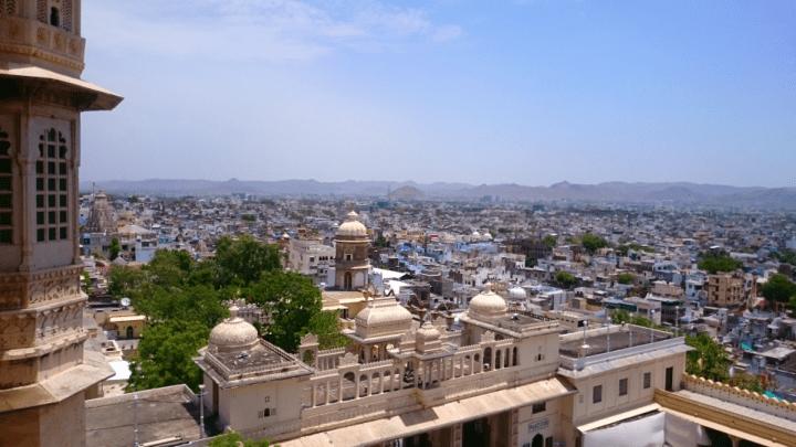 Ausblick über Udaipur