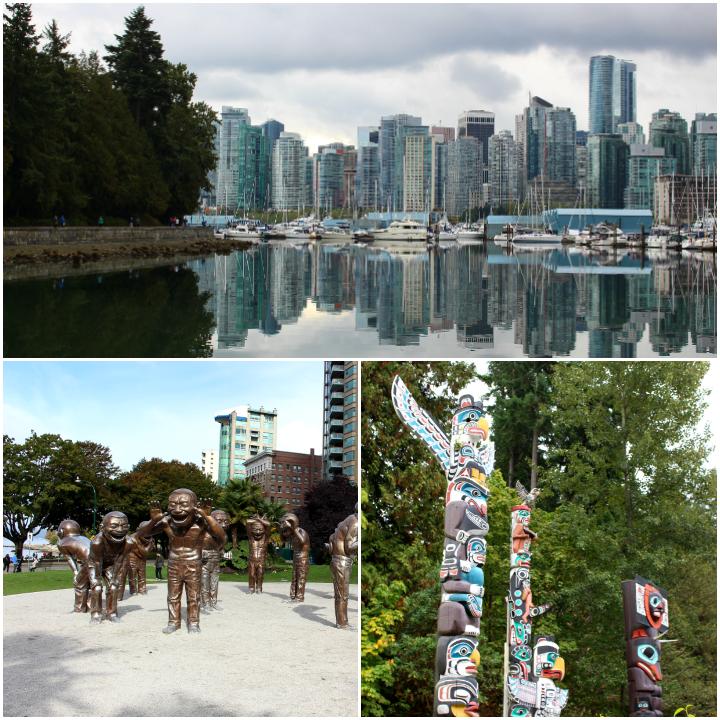Stanley Park und Skyline Vancouver