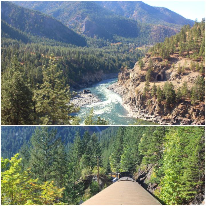 Landschaft auf dem Weg von Vancouver nach Kamloops