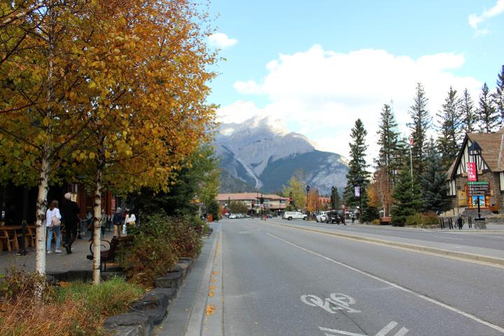 Banff - Bergblick vom Zentrum aus