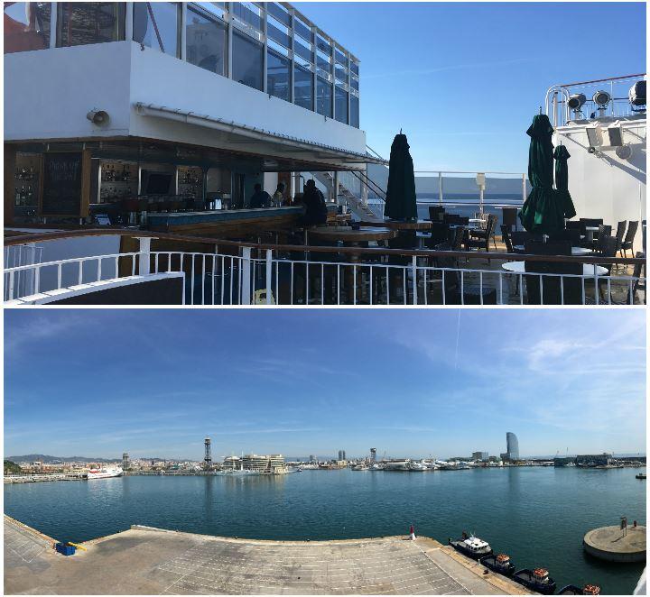 H2O Bar und Blick auf Barcelona