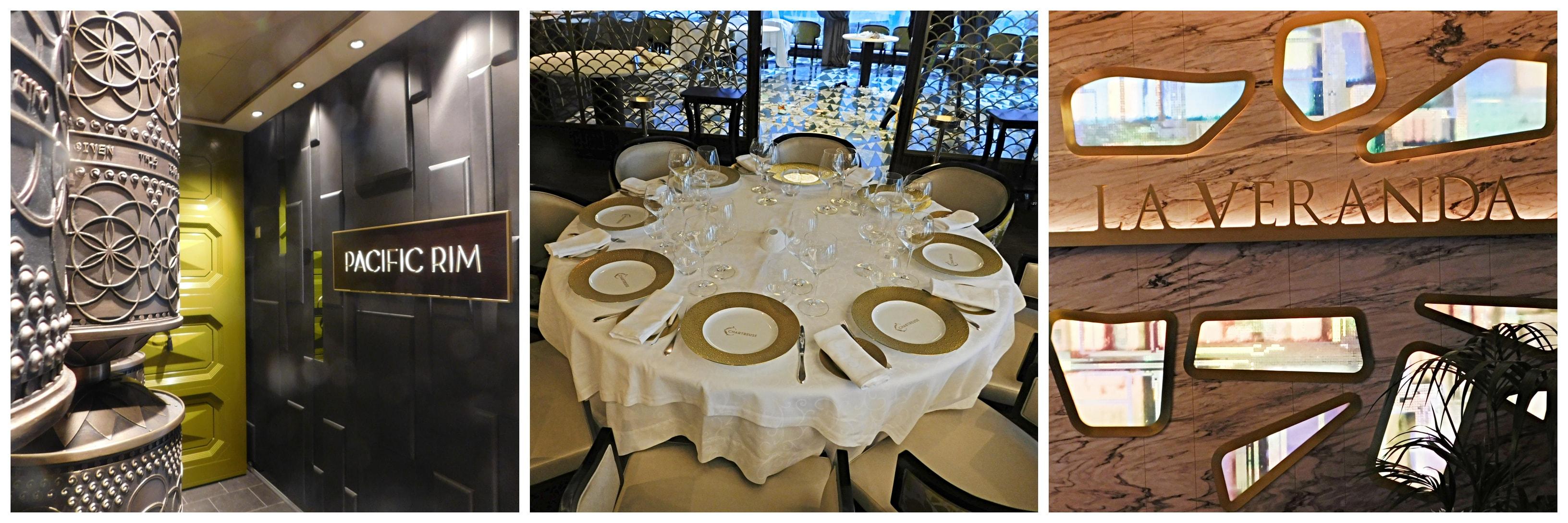 Restaurants der Seven Seas Explorer (Pacific Rim, Chartreuse, La Veranda)